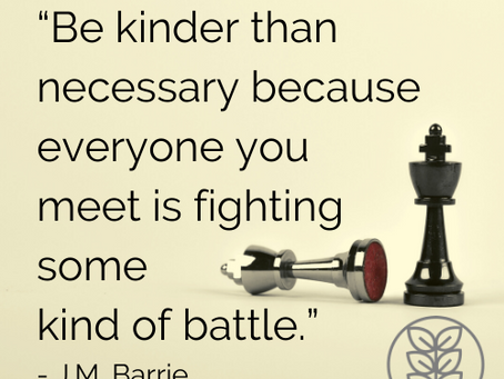 How will YOU be kinder today? This week? This month? This year? Happy New Year, all!