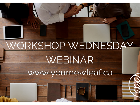 FYI FRIDAY: Can you believe it? Workshop Wednesday is just around the corner...AGAIN!