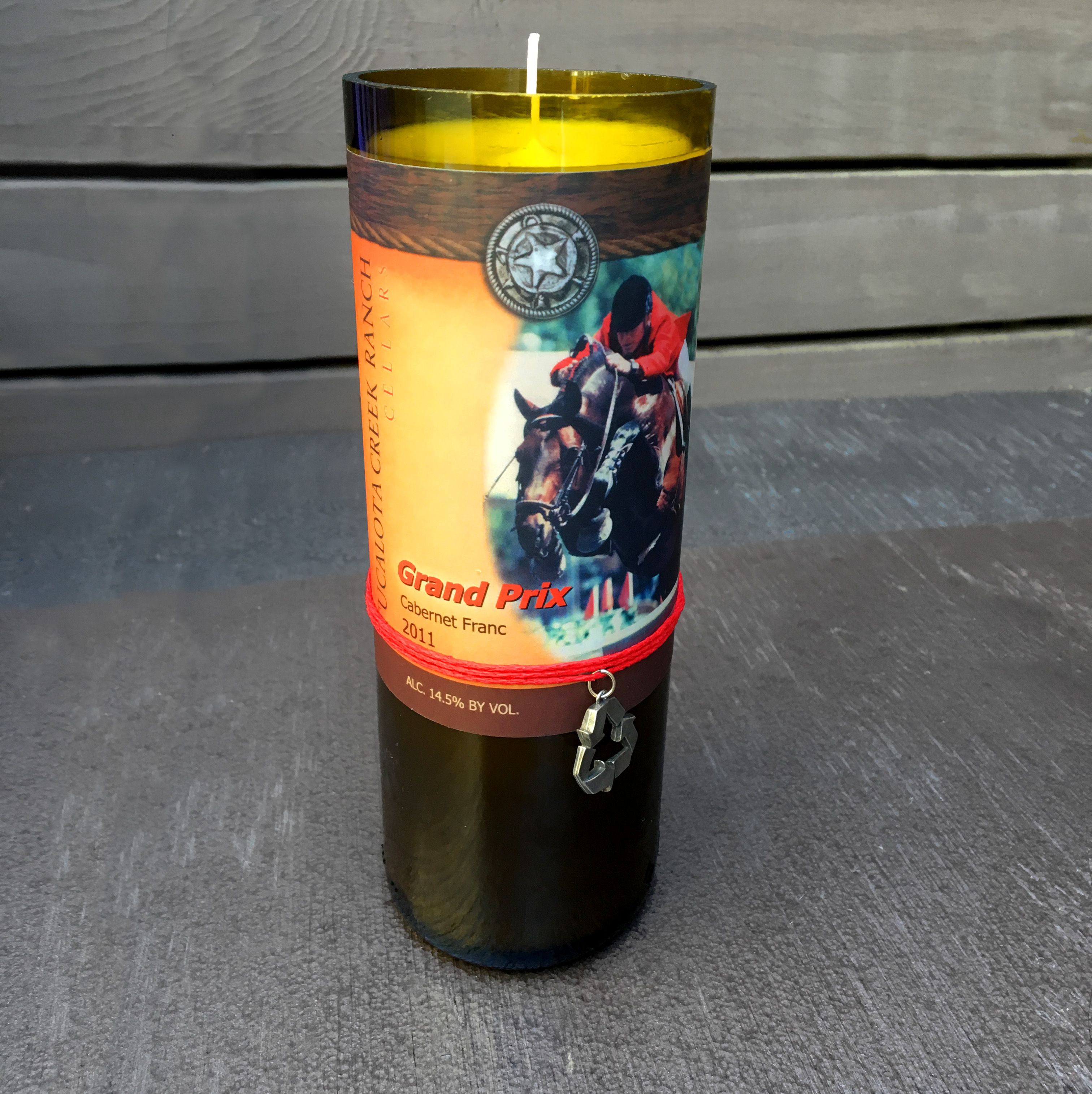 Tag It Green Candle 8