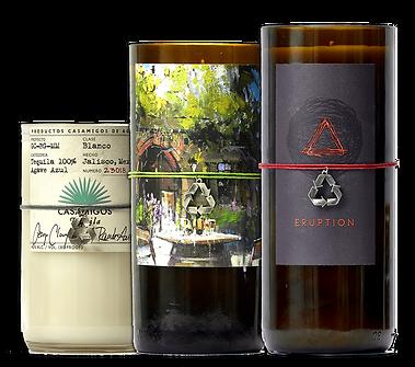 Wine Bottle Candle Orgibal Wine Labels.p