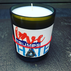 Love Trumps Hate - Candle - Tag It Green 1