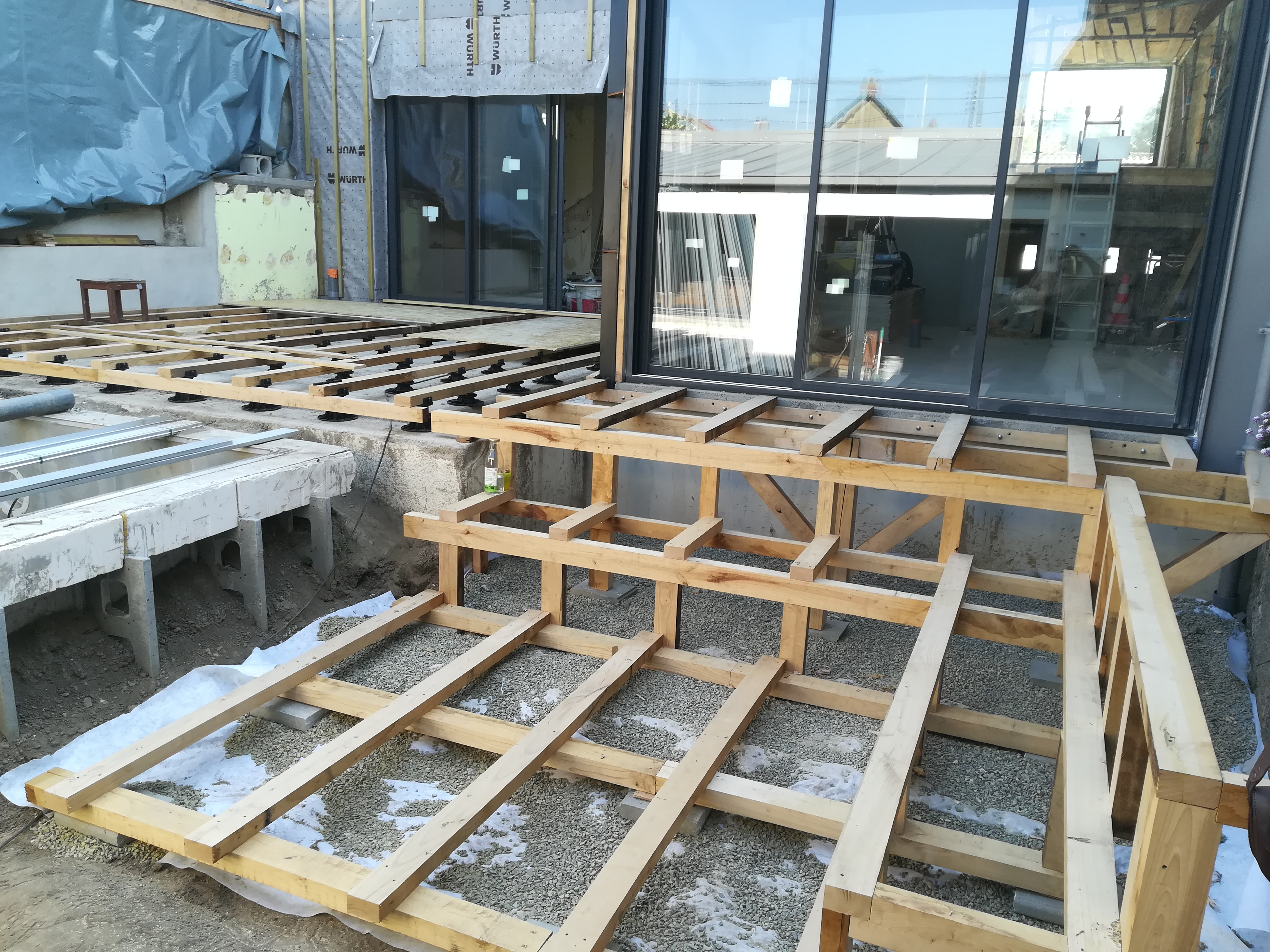 structure châtaignier terrasse
