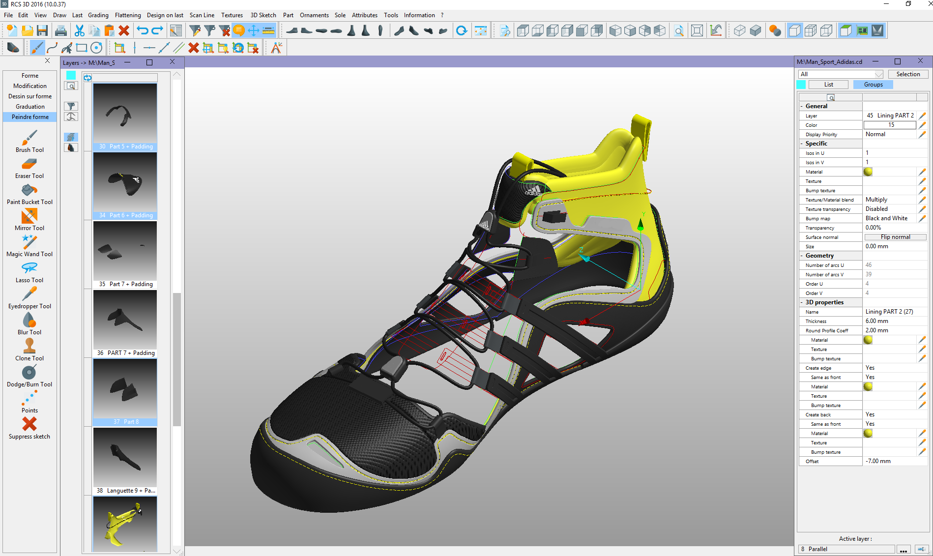 Romans CAD 3D Footwear Design