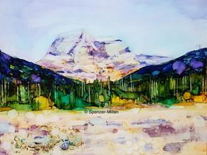 The Rockie Mountain Glow, Alberta | £65 | Mounted £80