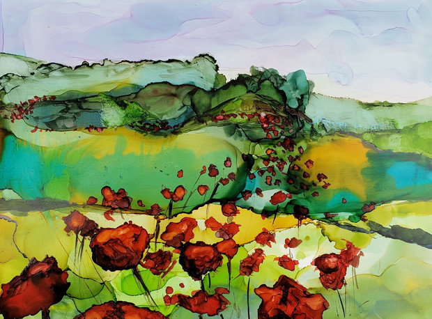Path of Poppies | SOLD
