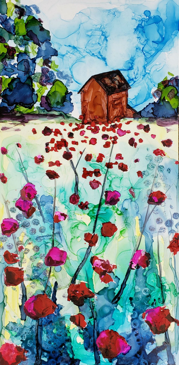 Poppy Field £80 (not mounted)
