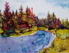 The Water, Old Man River Campground, Alberta | £85 | Mounted £115