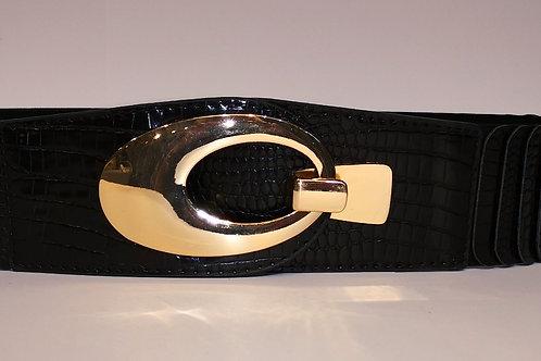 Stretch-Gürtel schwarz/gold