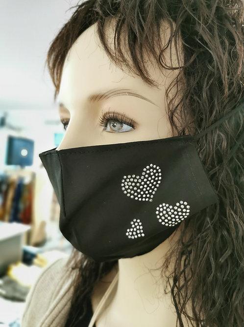 Mund und Nasen Bedeckung mit Herz
