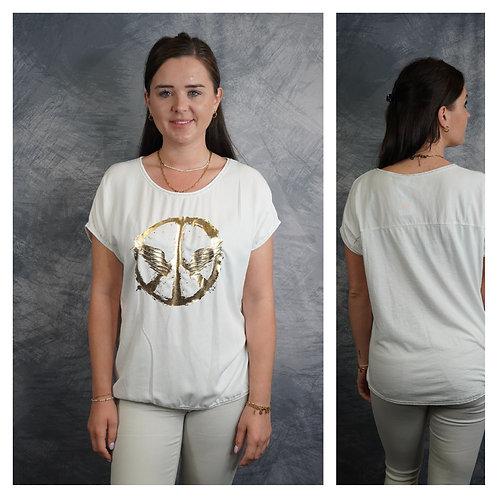T-Shirt mit Gold