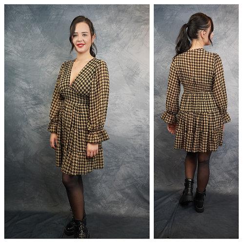 Kleid braun/schwarz