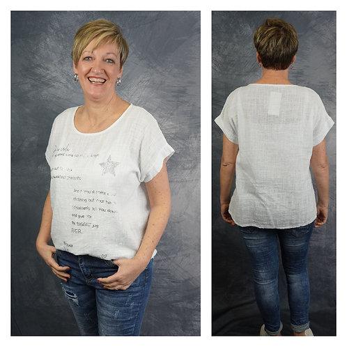 T-Shirt mit Schrift und Stern