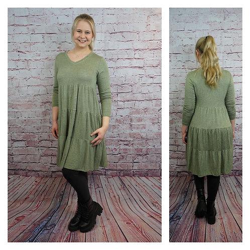 Strick-Kleid, lang