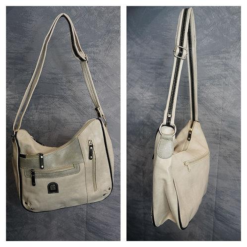 Handtasche beige, grau