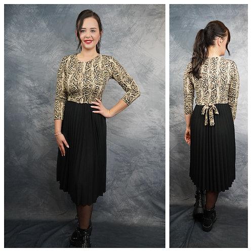 Kleid, Animalprint/schwarz