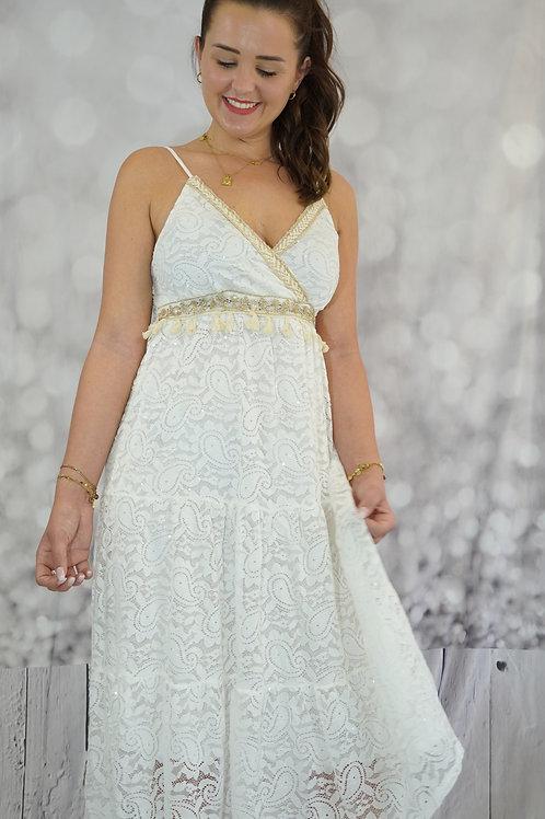 Kleid mit Spitze und Gold