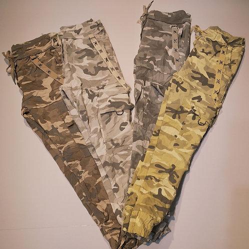 Cargo-Camouflage-Jogginghose