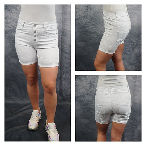 Jeans, Shorts, weiß