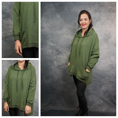 Sweatshirt mit Kapuze und Reißverschluss
