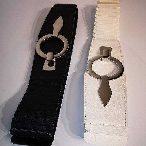 Stretch-Gürtel mit runder Schließe