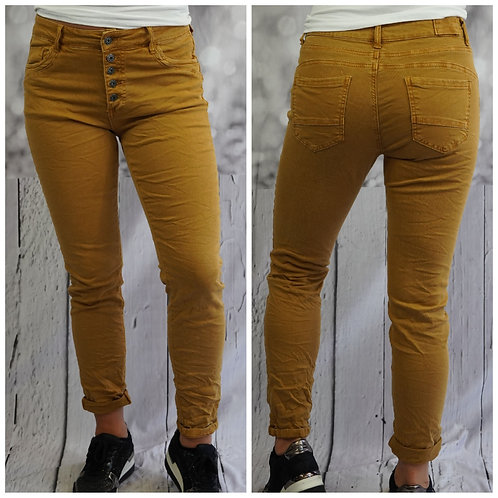 Jeans senfgelb