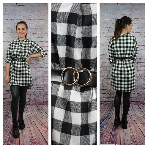 Hemdkleid mit Karo-Muster