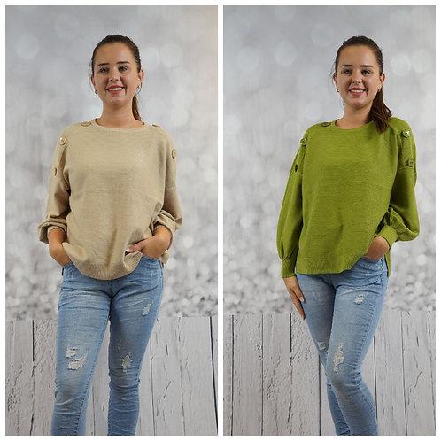 Pullover mit Knöpfe