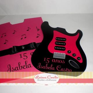 Convite Debutante Guitarra