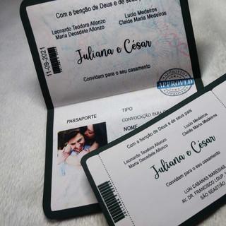 Convite de Casamento Passagem e Cartão de embarque.