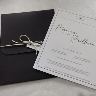 Convite de Casamento Minimalista Marina e Guilherme