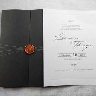 Convite de Casamento Leonor