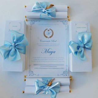 Convite Debutante Pergaminho.