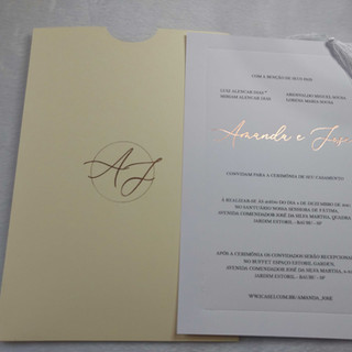 Convite de Casamento Amanda