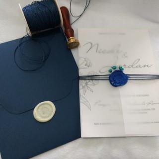 Convite de Casamento com transparência