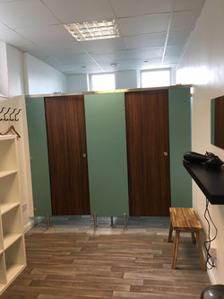 Personal trainer changing room