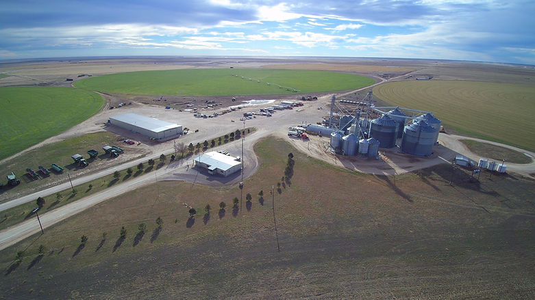 Aerial Photo of 3B Farms Headquarters