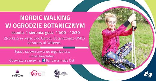 Nordic walking w Ogrodzie Botanicznym  Trening 1 sierpnia