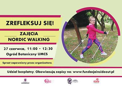 Nordic walking w Ogrodzie Botanicznym Zrefleksuj się