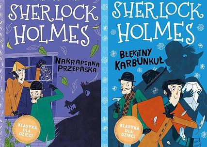 Holmes i Błękitny Karbunkuł oraz Sherlock Holmes i Nakrapiana Przepaska, sir A. C. Doyle - recenzja książek