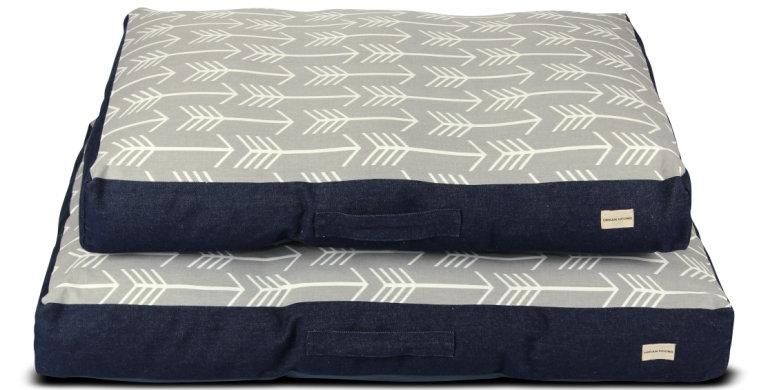 Mattress bed grey arrow design