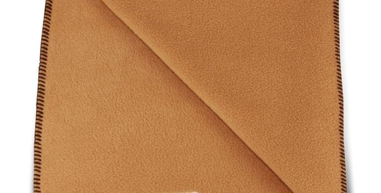 Blanket beige with brown stitching