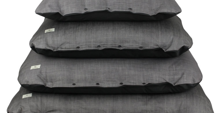 Popper pillow bed grey