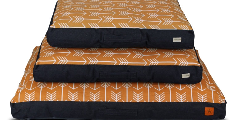 Mattress bed orange arrow design