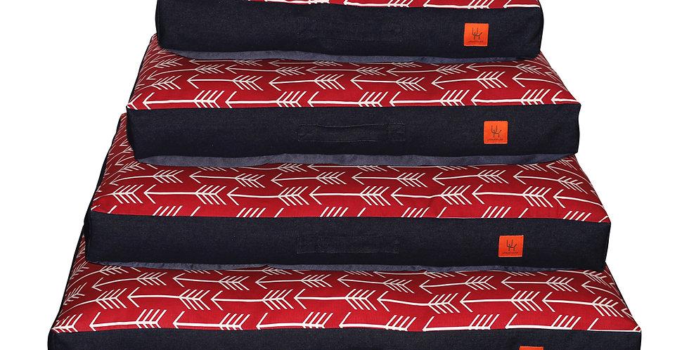Mattress bed red arrow design