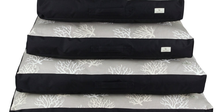 Mattress bed grey coral design