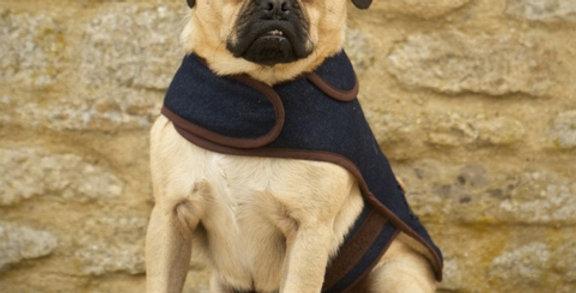 Denim dog coat