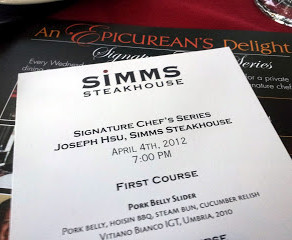 The Restaurant: Formerly known as Simms Landing