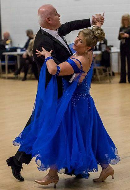 Ballroom dancers Erik and Debroah