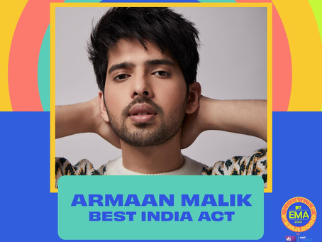 Honoured to have won the 'Best India Act' at 2020 MTV EMAs; wanted to take India global: Armaan