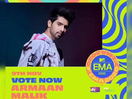 Armaan Malik nominated for MTV Europe Music Awards 2020